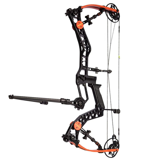 50-70lbs Archery Compound Bow IBO Speed 330-340FPS 65-70% Letoff With Limb Stabilizer and Carbon Stabilizer For Hunting Shooting