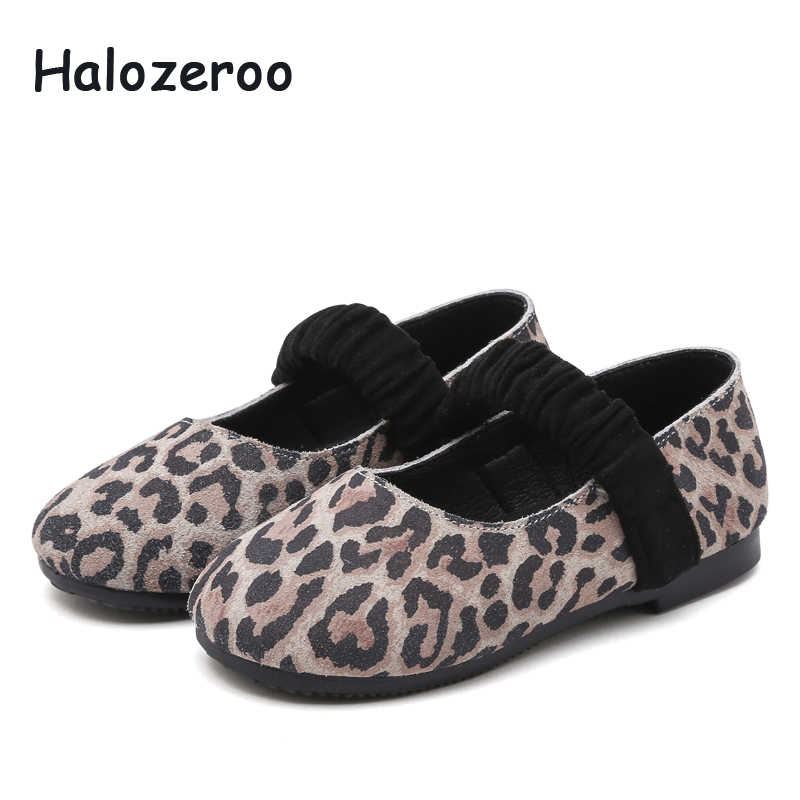 New Spring Baby Girls Leopard Shoes Children Dance Flats Toddler Fashion Shoes Brand Princess Shoes Black Soft Mary Jane 2019