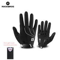 ROCKBROS Windproof Cycling Bicycle Gloves Touch Screen Riding MTB Bike Glove Thermal Warm Motorcycle Winter Autumn