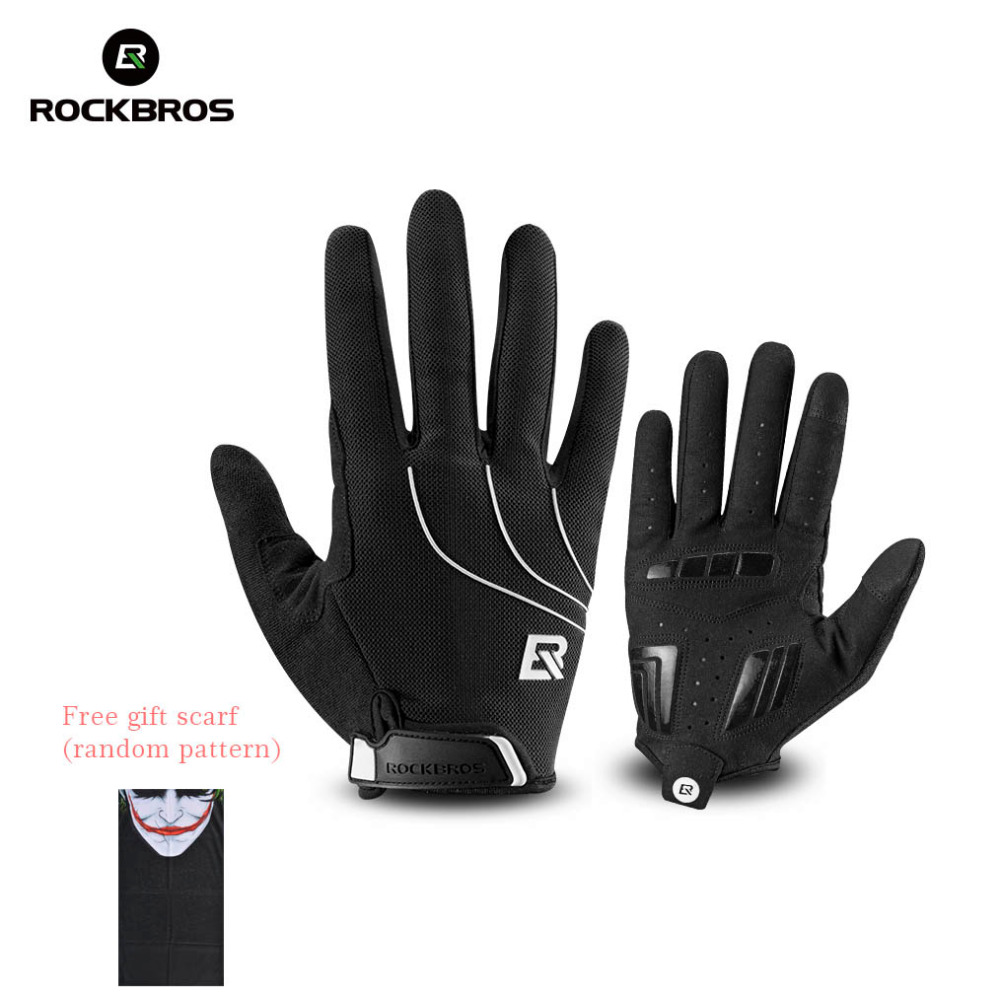 ROCKBROS Windproof Cycling Bicycle Gloves Touch Screen Riding MTB Bike Glove Thermal Warm Motorcycle Winter Autumn Bike Clothing universal motorcycle windproof warm glove black orange