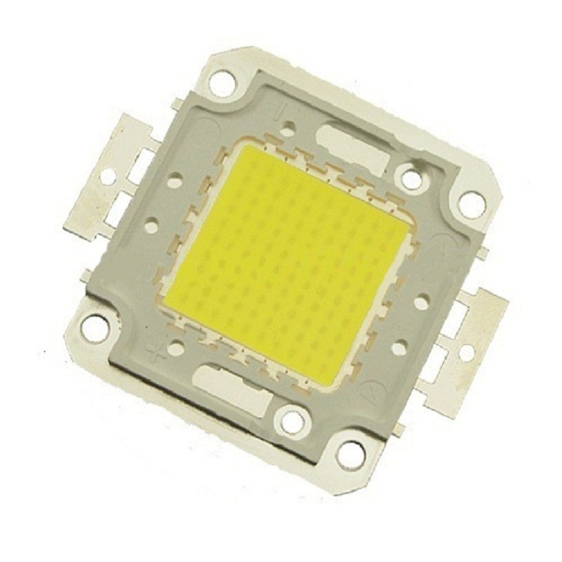 High Bright 100W 50W 30W 20W 10W Led Chip 30*30mil Cree SMD COB DIY Floodlight Bulb Lamp Warm/Cool White Integrated Full Watt
