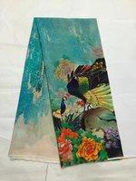 Tulle de soie imprimée tissu d'été fruits tissu imprime robe soie mousseline de soie tissu en gros tissu de soie tissu minky matériel LX0567