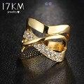 17 КМ Мода Циркония Обручальные Кольца Для Женщин Золотой Цвет Ювелирные Изделия Женщина Кольцо Бижутерии Оптом