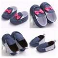 Fashion Slip-on Handsome Baby Boys Shoes Prewalker Princess Bow Baby Girls Shoes Mary Jane Footwear
