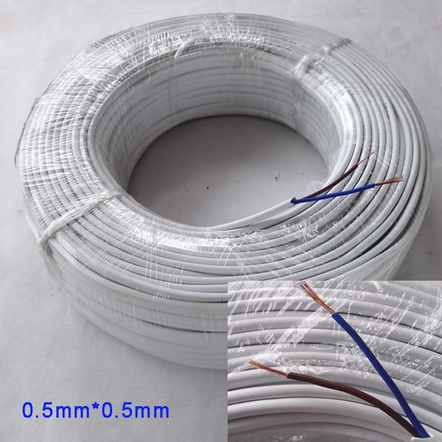 2 pin brown and blue 0.5mm electrical wire copper core-in Wires ...