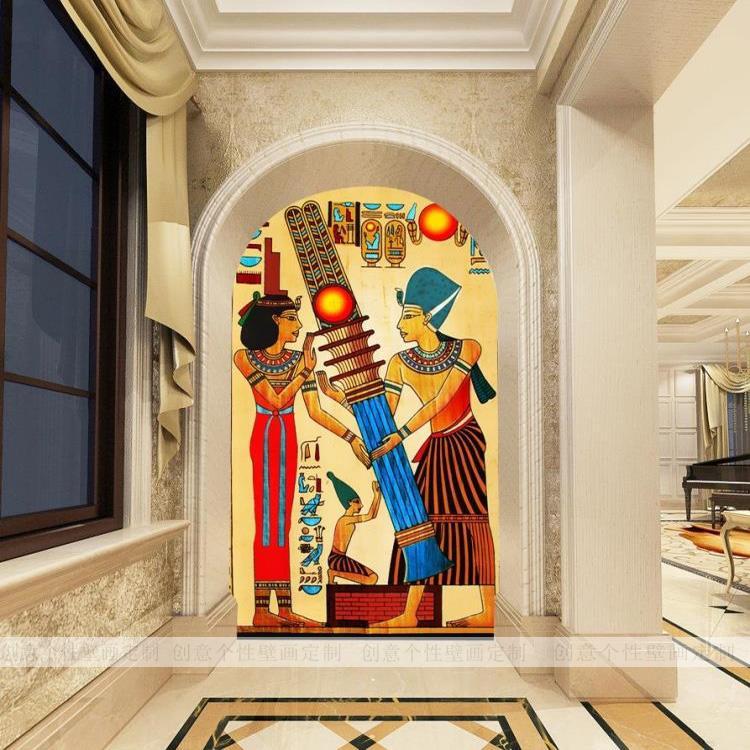 3D photo wallpaper Large mural KTV bar sofa backdrop wallpaper retro ancient Egypt wallpaper mural peking opera wallpaper retro bar cafe ktv restaurant sofa backdrop hot pot shop wallpaper mural chinese style