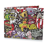Paper Small Wallet Waterproof Hip Hop Short Women Card Holder Cute Wallet Kids Erkek Kartli Cuzdan Woman Wallet Short 50Z0243