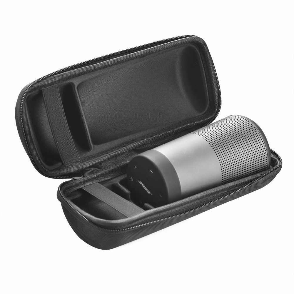 New PU Travel Protective Case For Bose Soundlink Revolve Bluetooth Speaker Carry Pouch Bag Cover Case Extra Space For Plug&Cable