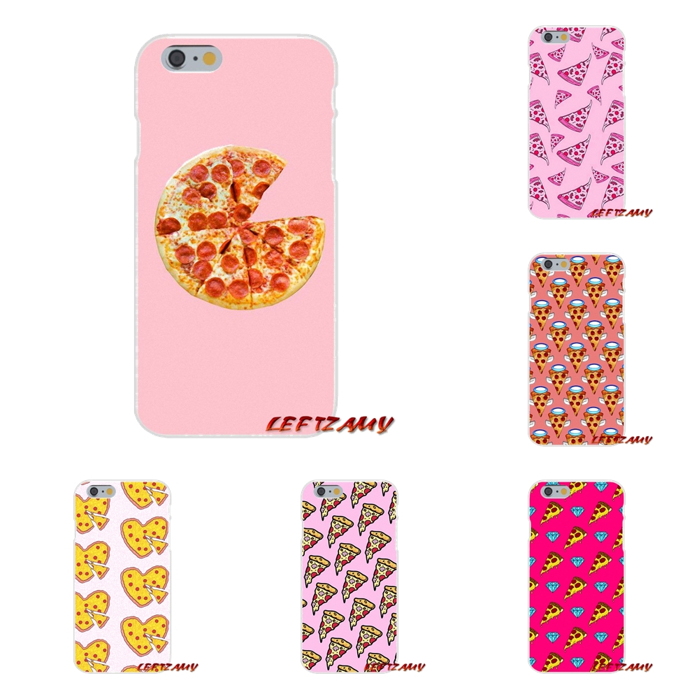 For Samsung Galaxy S3 S4 S5 MINI S6 S7 edge S8 S9 Plus Note 2 3 4 5 8 pizza on pink lovely Soft Soft Phone Case Silicone