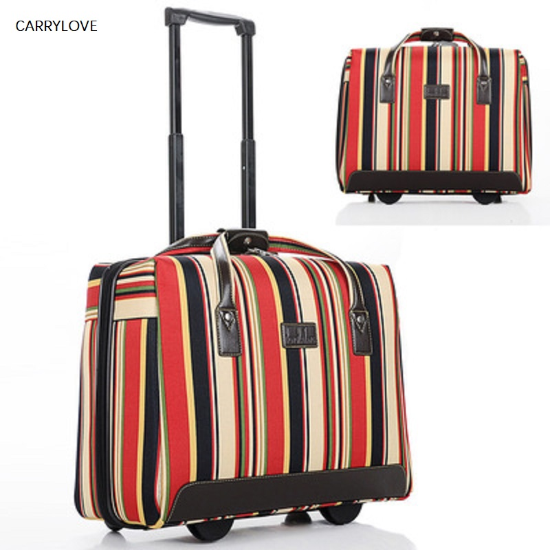 Color stripe travel Large capacity trolley luggage bag with wheels multifunction Luggage carry on boardingColor stripe travel Large capacity trolley luggage bag with wheels multifunction Luggage carry on boarding