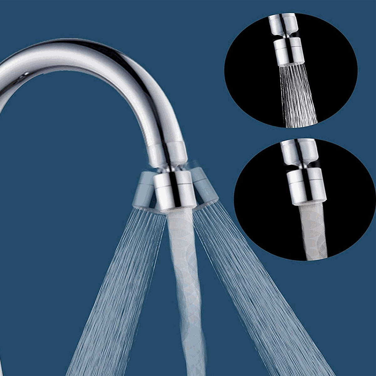 Creative Kitchen Water Faucet 360 Rotating Water Saving Tap Bathroom Head Filter Nozzle Swivel Stainless Steel Sink Aerator