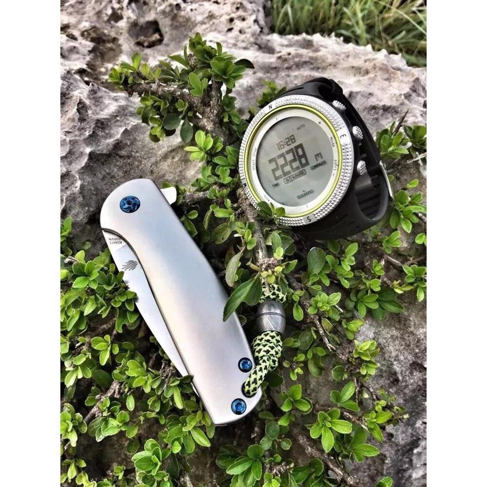 Купить с кэшбэком Kizer mini knife Gemini KI3471 survival knife high quality small folding pocket knife  titanium flipper camping tools