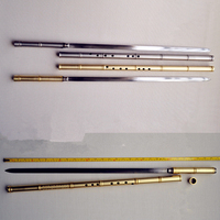 Metal Flüt Xiao + Kılıç G Anahtar Tai Chi Vücut Geliştirme Kılıç Flauta Dövüş sanatları Kılıç Flüt Dikey Flüt Kendini savunma Silah