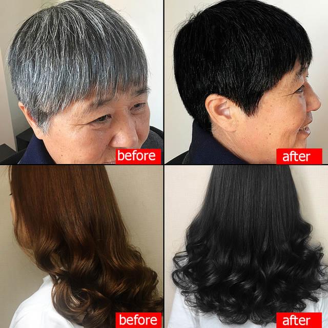 Natural Soft Shiny Brown Golden Hair Dye Shampoo Wine Red Purple Hair Color  Shampoo Black Grey Hair Removal for Men Women 500ML