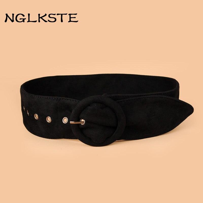 Apparel Accessories Brilliant Nglkste Autumn And Winter Ladies Belt Ring Buckle Belt All-match Garment Suede High-quality Waist Belt Womens Belts Lbq086