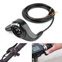 1Pcs Black Electric Bike Scooter Universal Thumb Throttle Speed Control Handle For E-Bike Bicycle New