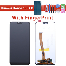 with Fingerprint 5.8' Original LCD For HUAWEI Honor 10 Displ