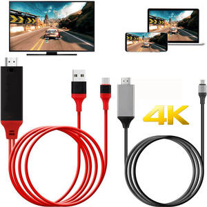 Lead Hdmi-Cable-Adapter Phone-To-Tv Type-C Samsung Usb C 4K for Macbook Google/Chromebook/Pixel