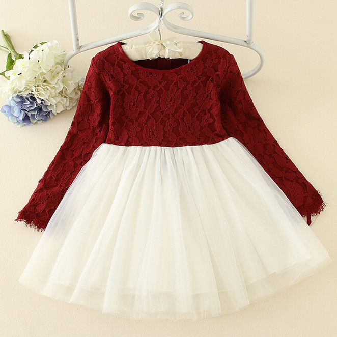 New Spring 3-10Y Christmas Dress Girl Clothes Red Patchwork Lace Cotton O-neck Long Sleeve Girl Dress Children Clothing AD-1643 10 20ft hand painted muslin scenic backdrops for photography photo studio background backdrop 094 vintage photography backdrops