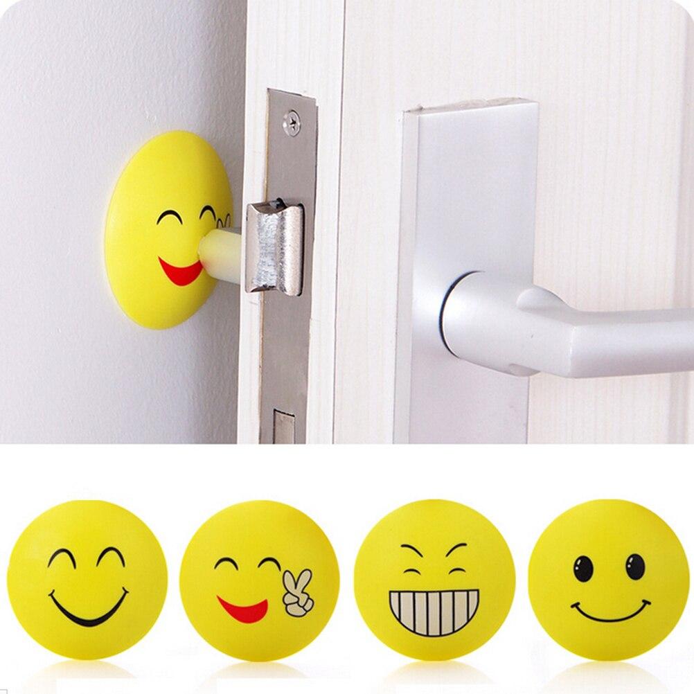 Rubber Door Handles Self Adhesive Bumper Guard Stopper Knob Emoji Crash Pad Wall Protector Anti Collision Stop Sticker 1PCS-in Door Stops from Home ...