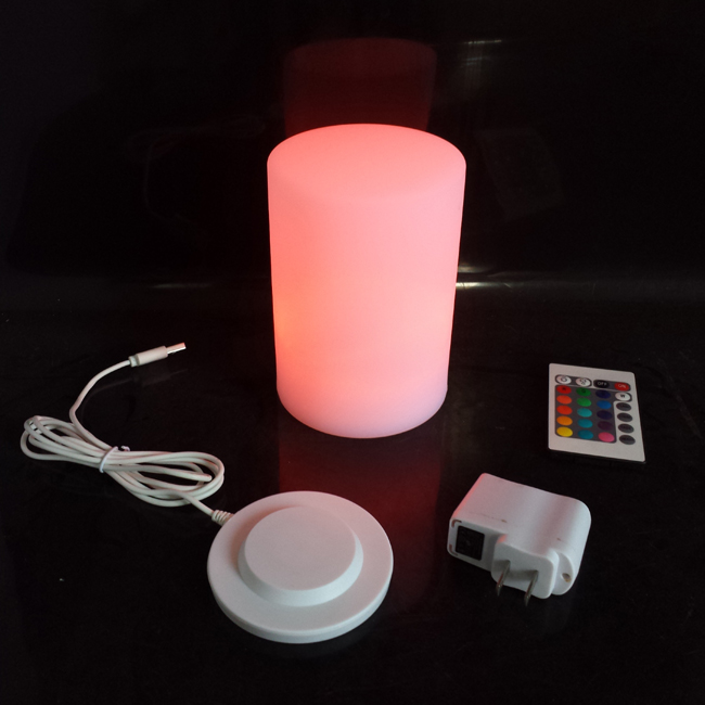 Led Bar Table Lamp Illuminated Lighting Cylinder lamps LED Small Pillar For Event & Party Supplies SK LF50 (D10*H15cm) 1pc