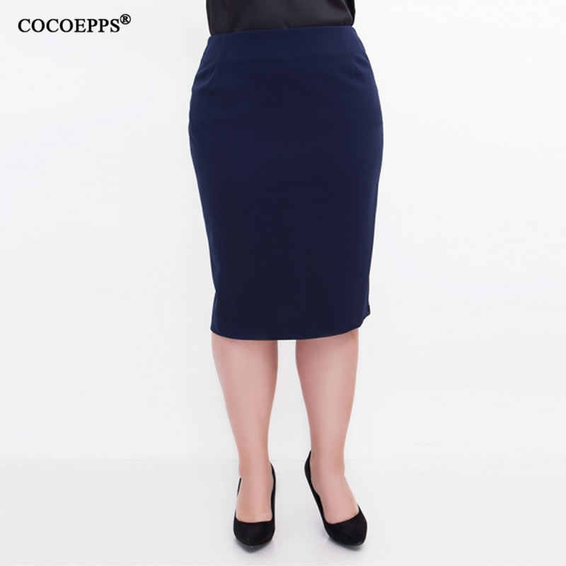 3a1001dfee 5XL 6XL 2018 High Waist Women Summer Skirt Office OL Plus Size Bodycon  bandage Pencil Skirt