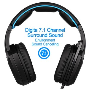 Image 2 - SADES auriculares de portátil para Gaming USB con micrófono, dispositivo Original, luminoso, 7,1