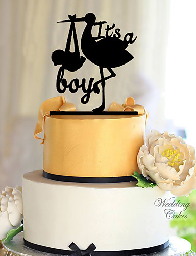 Its A Boy Cake Topper With For Baby Birthday Party Decoration
