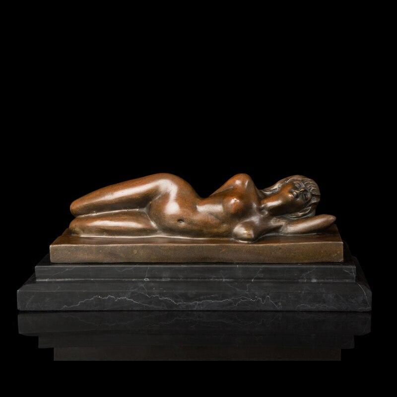 Nude female figurines