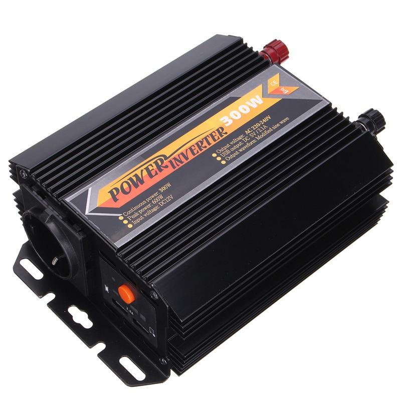 цена на Inverter Max 600 12/24V to AC 220-240 Volt Digital Display Modified Sine Wave Converter Car Charge Converter Transformer 300W