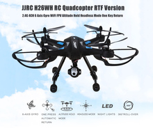 JJRC H26WH WIFI FPV RC Drone With 0.3MP Camera 2.4G 4CH 6Axis HeadLess Mode One key return Altitude Hold Mode RC Quadcopter RTF