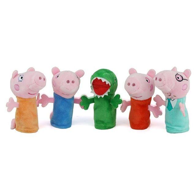 5 pcs Genuíno Personagens peppa pig 2018 Brinquedo Fantoche de Dedo Boneca Crianças Dom Brinquedos Para a Primeira Infância Apaziguar Fantoche de Dedo hot