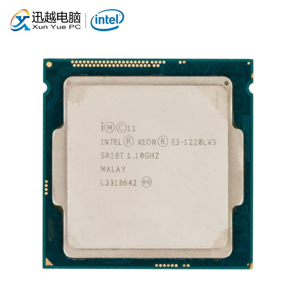 Processador para Desktop Intel Core E3-1220L V3 E3 1220L V3 Dual-Core 1.1 GHz L3 4 MB Cache LGA 1150 servidor CPU Usado