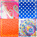 2017 Spring Cover-ups Shawl Pashmina Dot Paisley Flowers Patchwork Silk Feeling Scarves Women Top Quality Square Scarf Shawls