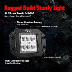 Image 4 - MICTUNING 2PCS 18W ไฟ LED ทำงาน Light Bar Flush Mount ขับรถ Offroad โคมไฟหมอกสำหรับ 4X4 J EEP ATV UTV รถบรรทุกเรือ