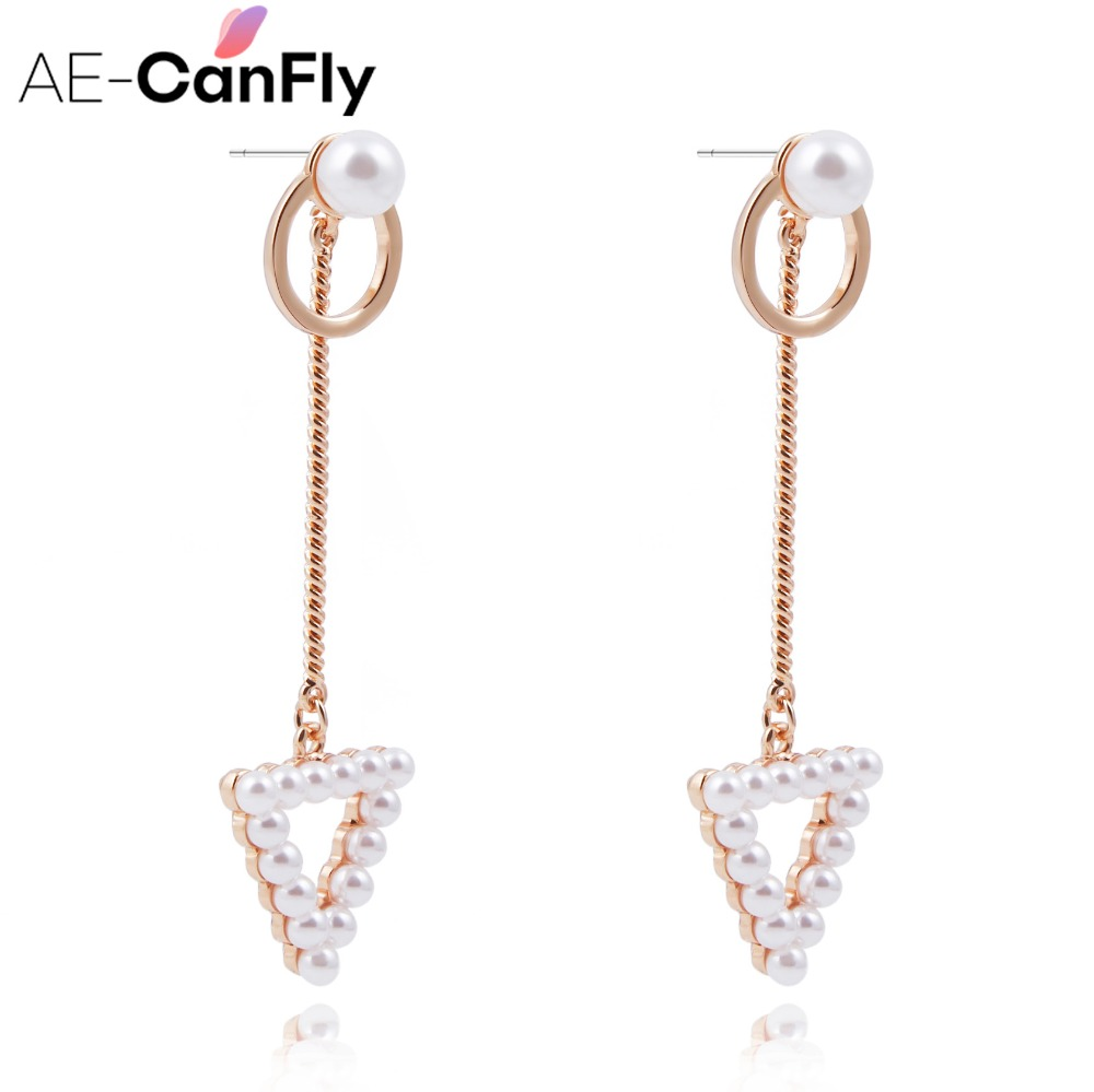 Classic Design Women Earrings For Lady Pearl Dangle Drop Earring Long Chain  Lady Ear Jewelry Ex070