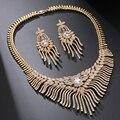 Oro de lujo Plateó Oval AAA + Cubic Zirconia Diamante simulado Moda Joyería de la Boda Para Nupcial Bijoux Femme JMSP298