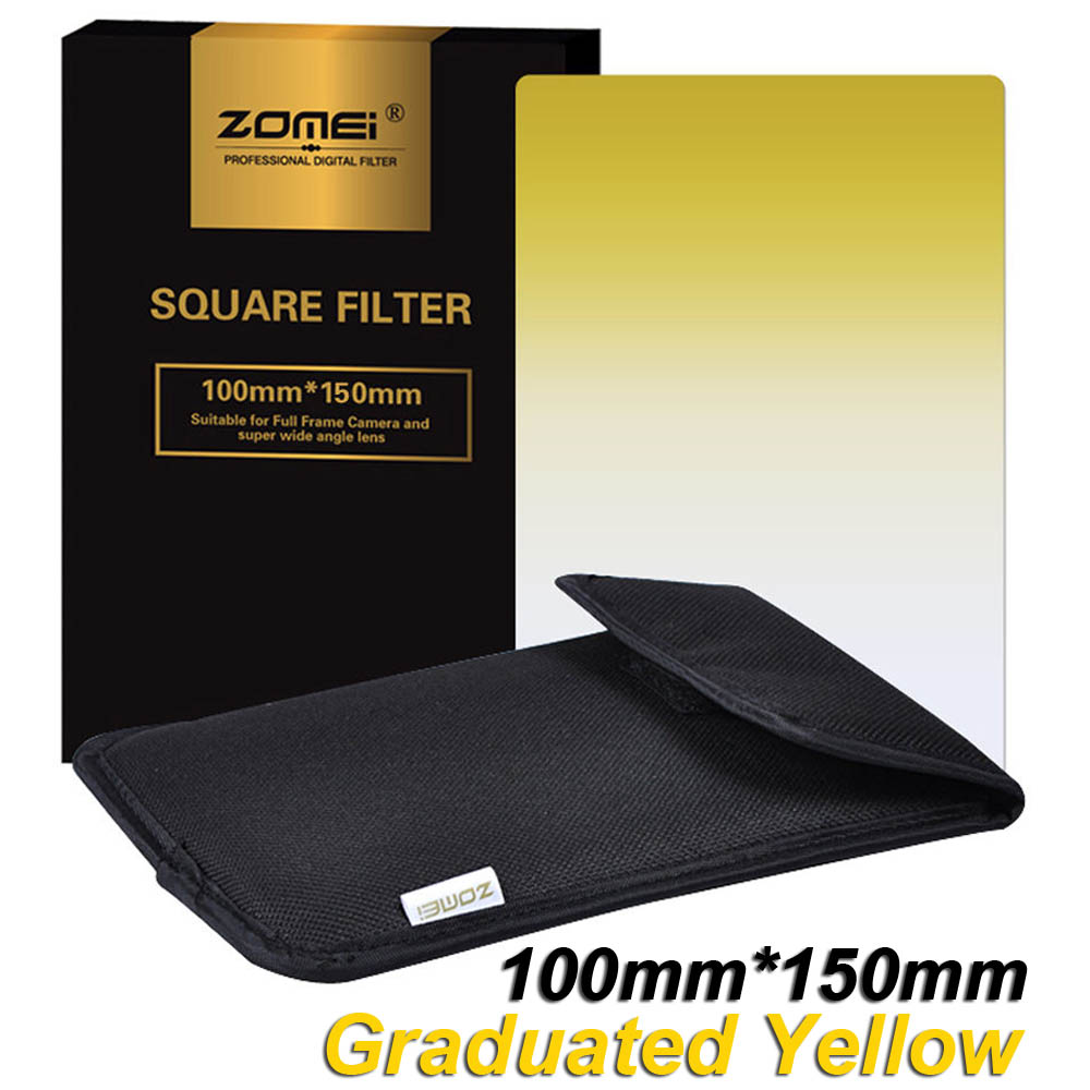 Hot Sale New Zomei Square Filter 100mm X 150mm Professional Lee Filters 100x150 Graduated Nd Soft Set Yellow 100mm150mm 100x150mm For Cokin Z Pro Series Holder
