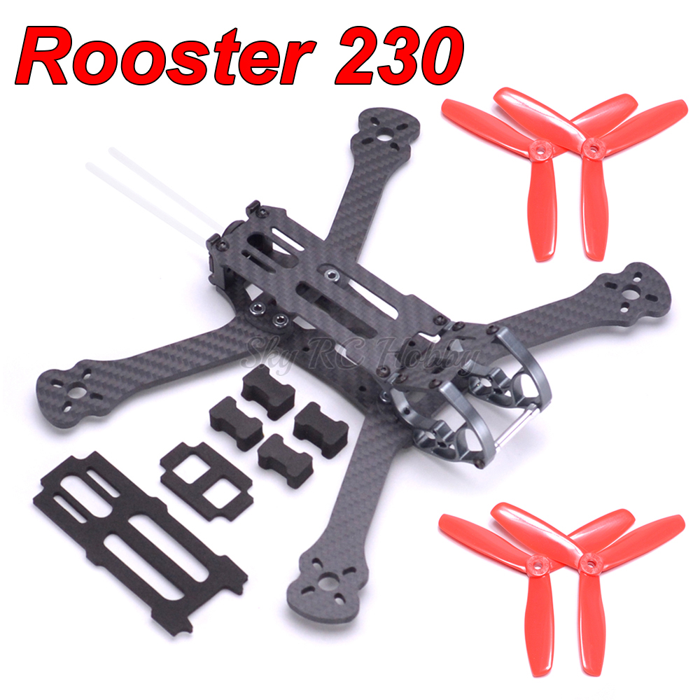 Rooster 230 wheelbase 225mm 5 5 inch FPV RC Racing Drone Quadcopter Frame 5045 Propeller For