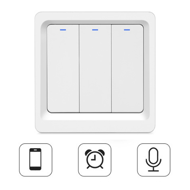 Wifi Remote Control Smart Switch Mobile Phone Voice Timing Button Smart Wall Wifi Switch