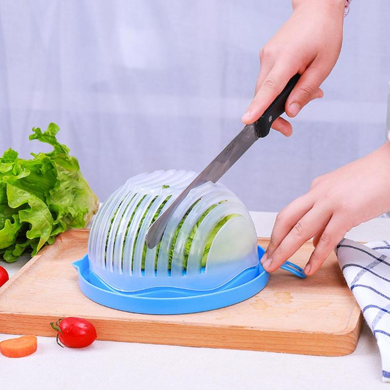 Kitchen 60 Second Quick Salad Maker Chopper Salad Cutter Bowl Vegetable Fruit Chopper Washer Kitchen Gadgets