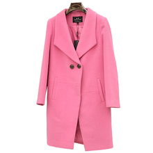 Winter cashmere wool coat feminine medium-long thickening woolen outerwear go well with