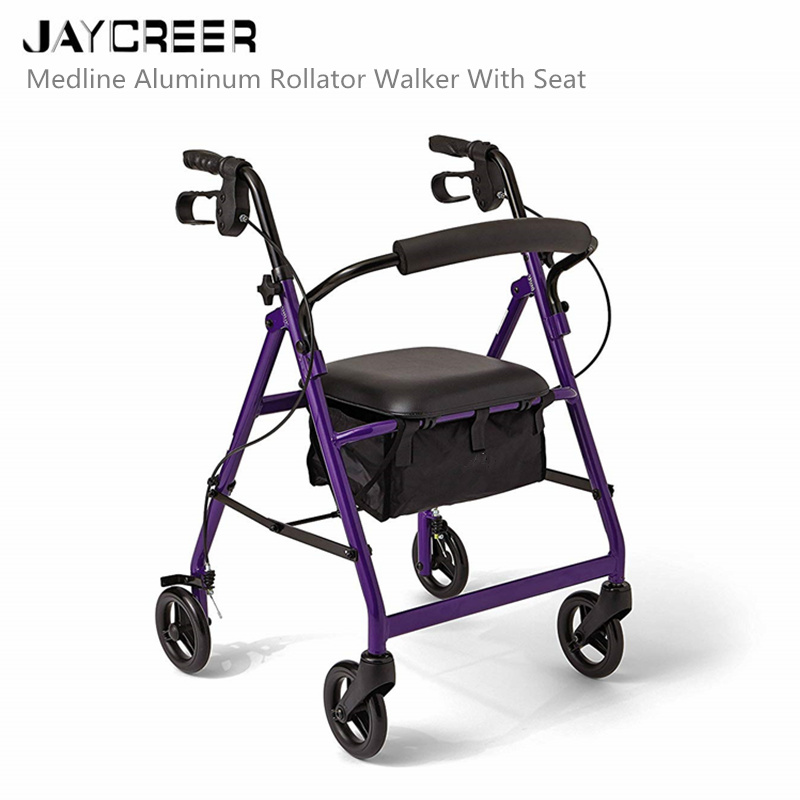 Magnificent Us 48 8 Jaycreer Super Light Rollator Lightweight Aluminum Loop Brake Folding Walker Adult W Height Adjustable Seat By Legs And Arms In Walking Bralicious Painted Fabric Chair Ideas Braliciousco