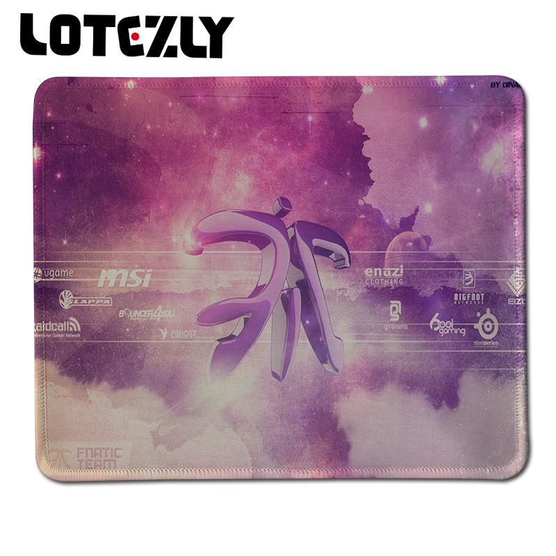 Hot Steelseries Fnatic Optical Mouse Pad Stitched Edge Gaming Mousepad Laptop PC Computer Notbook for Gamer Mice Play Mat