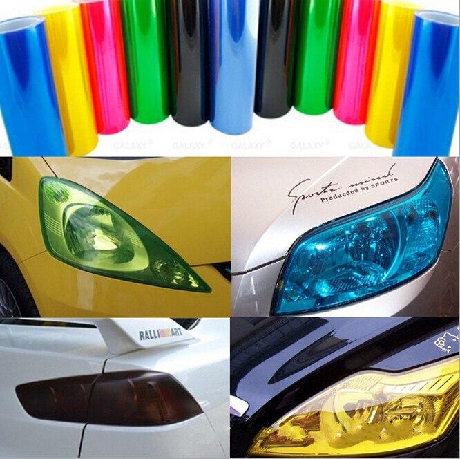 12 цветов 30см x100cm авто свет фар задний фонарь Противотуманные фары оттенок виниловая пленка лист стикер наклейки горячая Распродажа Бесплатная доставка