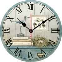 Retro Wood Wall Clock Wall Sticker Digital European Clock Fashion Creative Living Room Clock Diameter 30cm