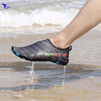 b708984c2fa Al aire libre vadeando Aqua 2019 zapatos de los hombres de verano Mujer  playa zapatilla en Surf seca rápido aguas arriba zapatos despojado de Río  zapatos de ...