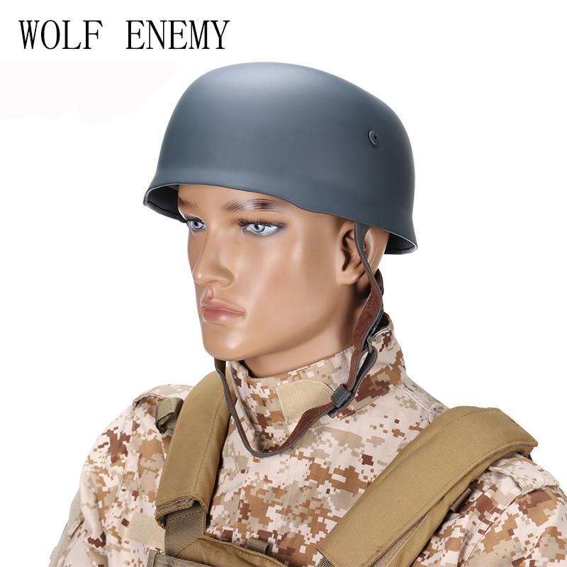 WWII German Fallschirmjager M38 Steel Helmet With Leather Liner Grey Paratrooper Helmet World War 2 German M38 Helmet motorcycle helmet world war ii german m38 wwii protective helmet paratrooper helmet