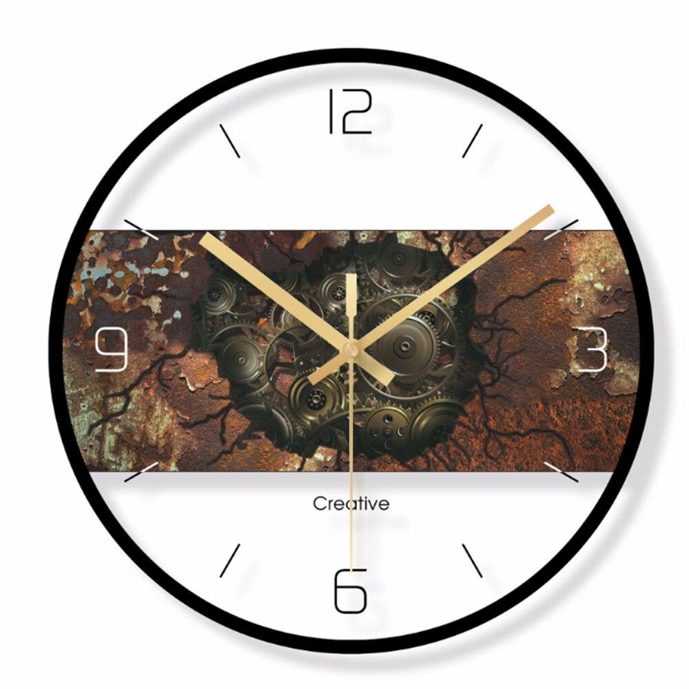 שעון קיר בשילוב פלטת עץ 3