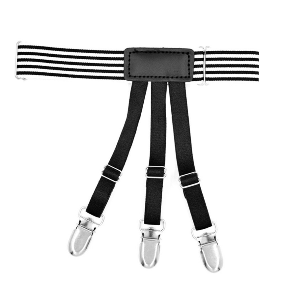 Men's Accessories 1 Pc Mens Shirt Crease-resist Anti-skid Clip Gentleman Legs Thigh Elastic Adjustable Suspender Holder Stays Garters Wholesale Reliable Performance